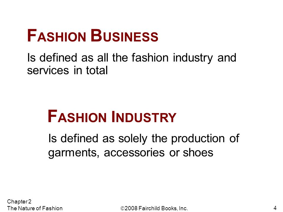 FASHION BUSINESS FASHION INDUSTRY