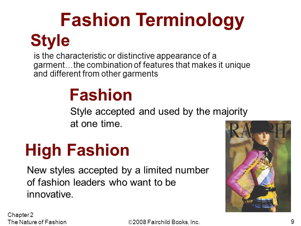 Fashion Terminology Style Fashion High Fashion