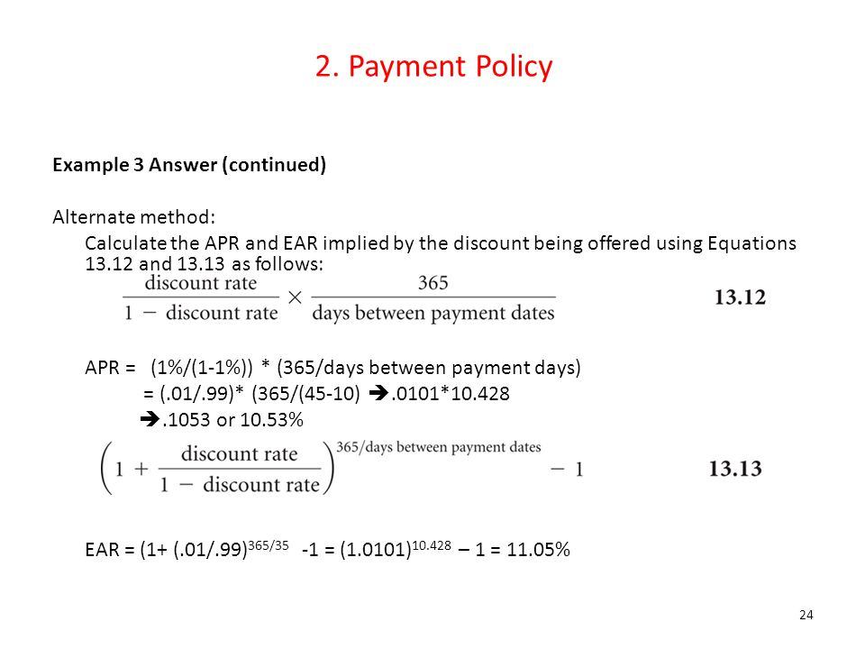 2. Payment Policy