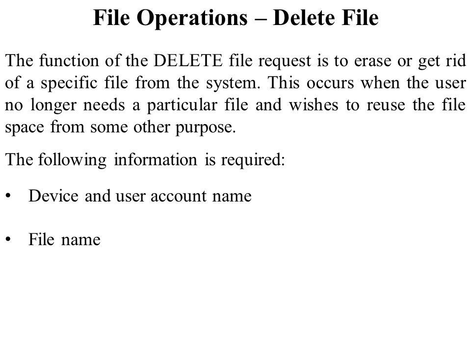 File Operations – Delete File