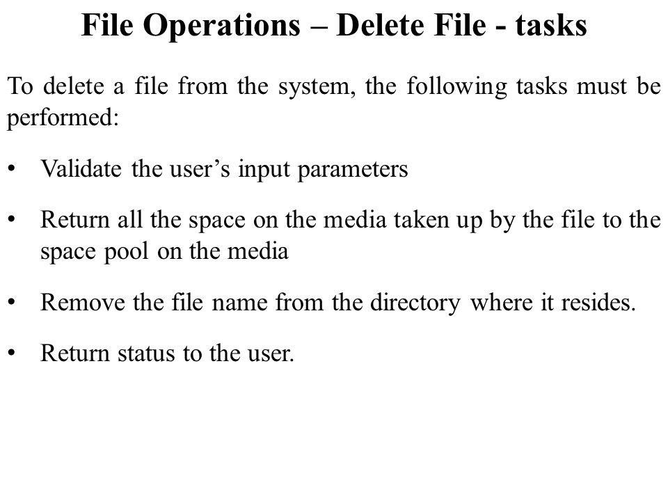 File Operations – Delete File - tasks