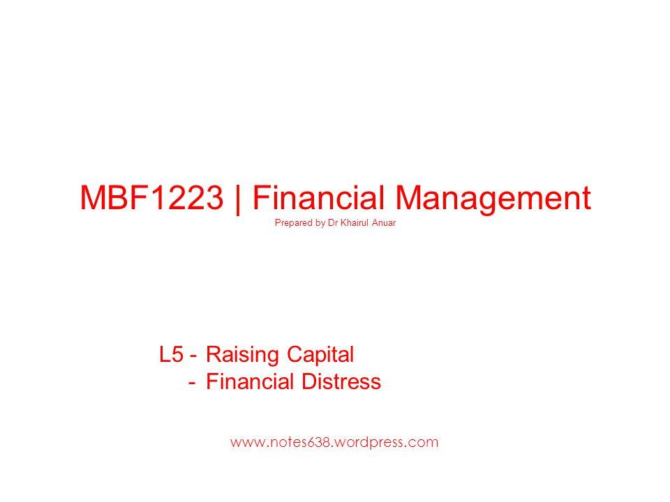 L5 - Raising Capital - Financial Distress