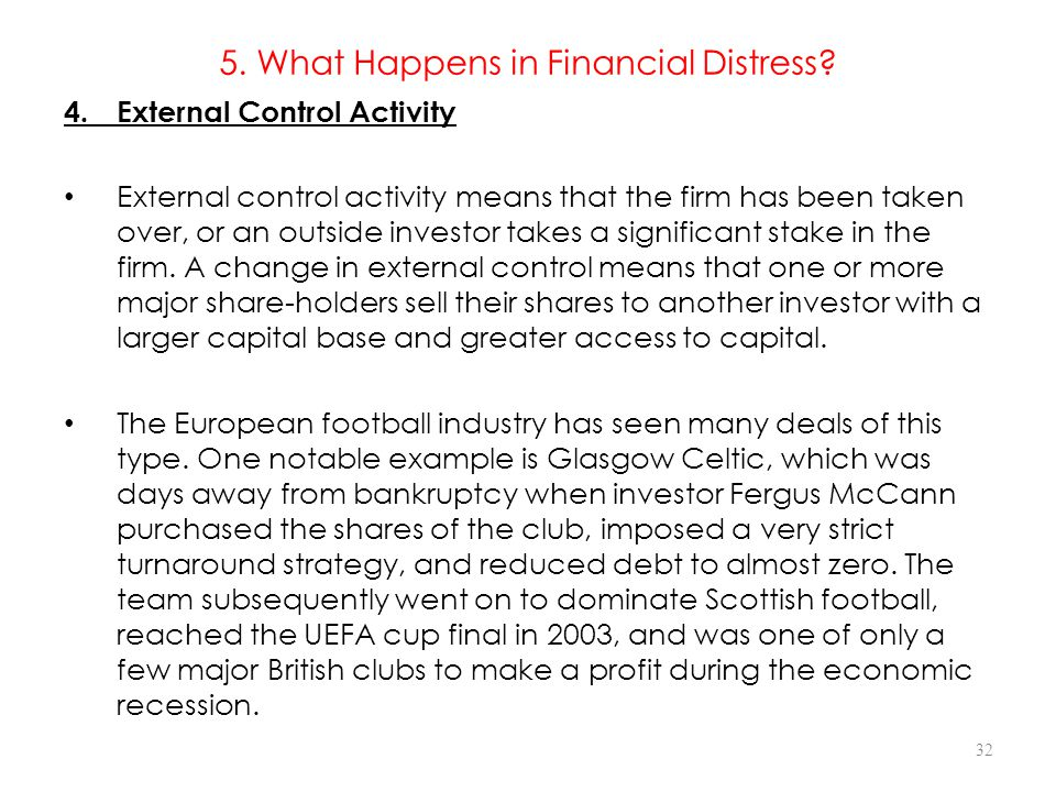 5. What Happens in Financial Distress