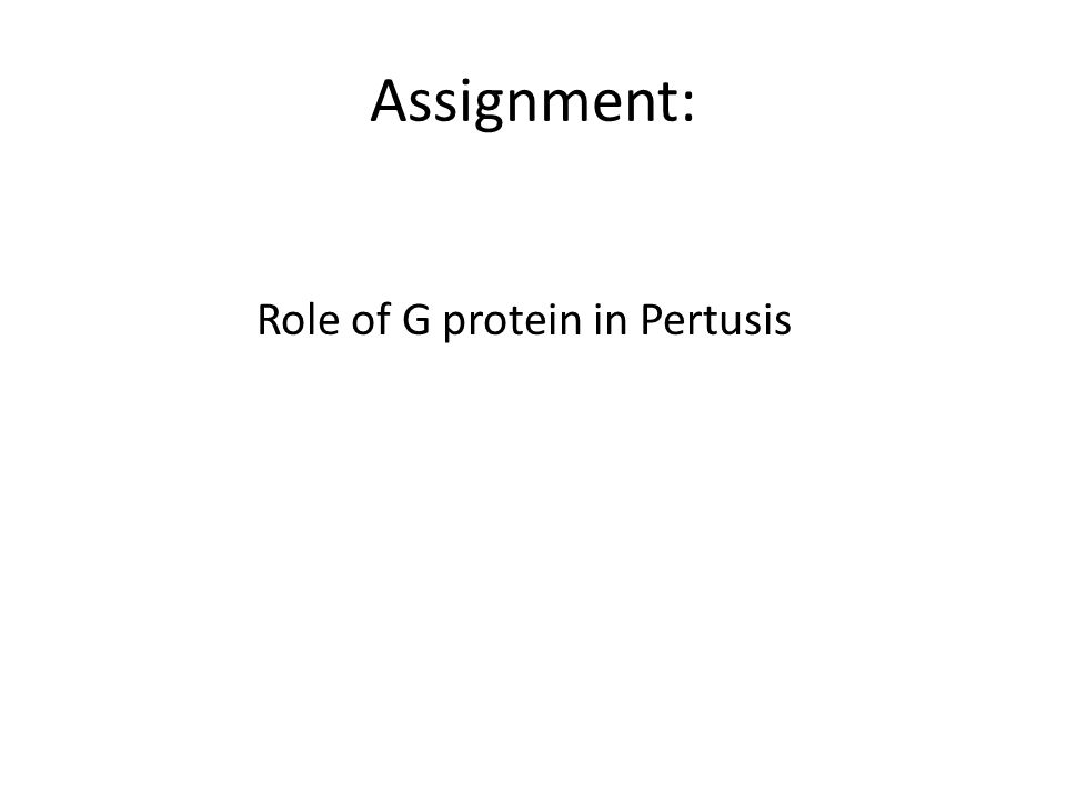 Role of G protein in Pertusis