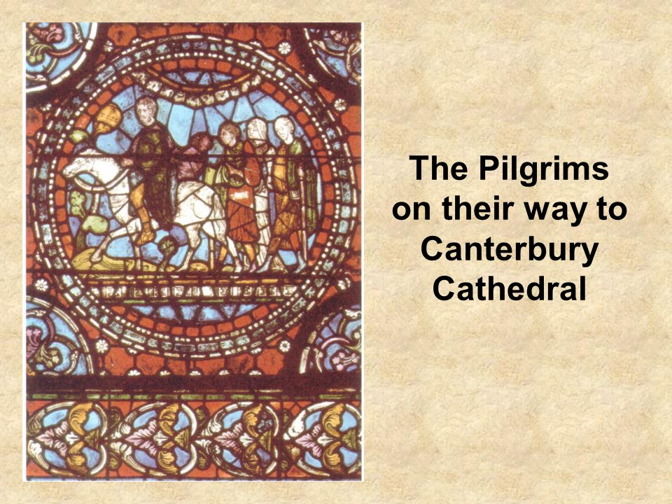 The Pilgrims on their way to Canterbury Cathedral