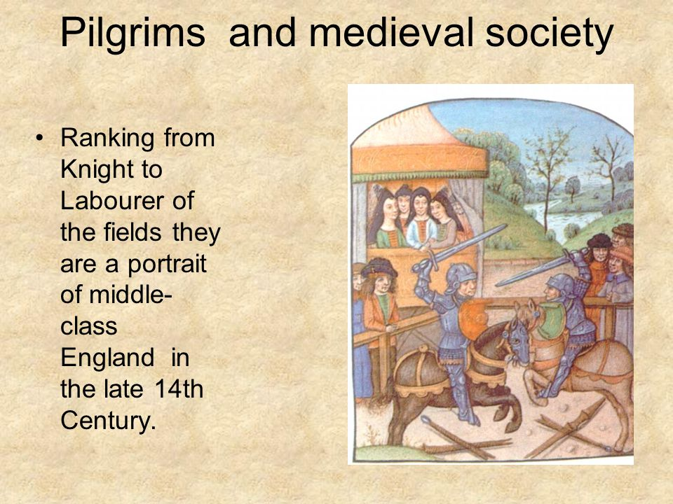 Pilgrims and medieval society