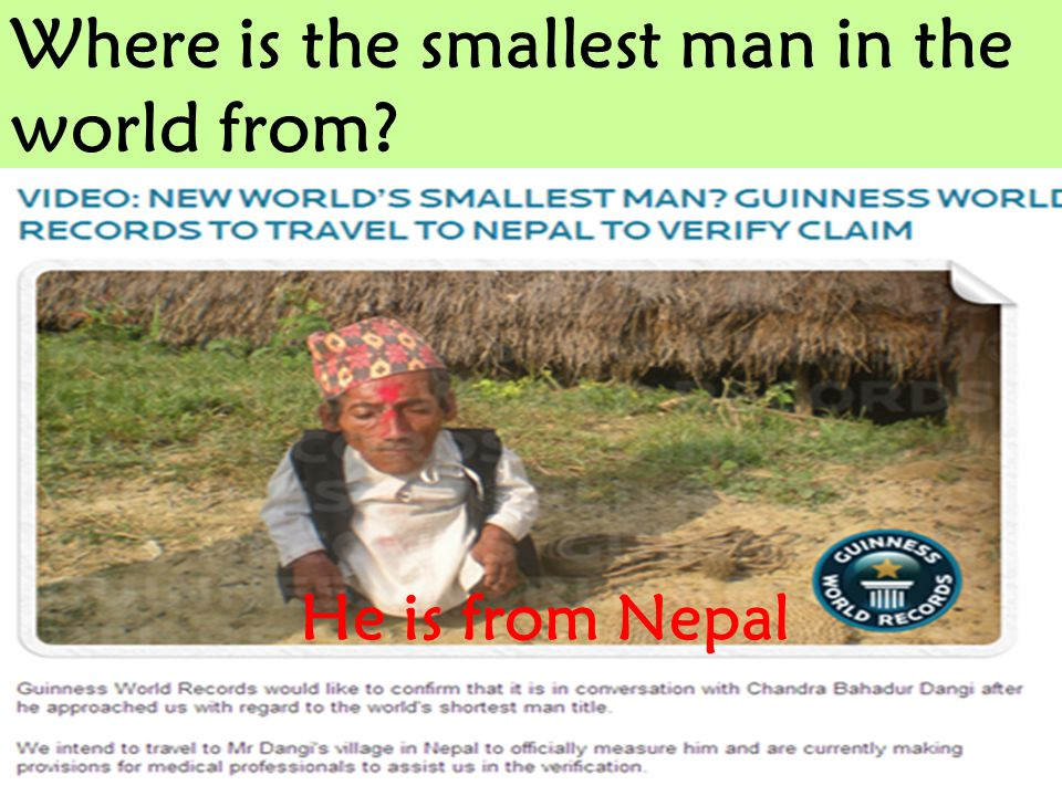 Where is the smallest man in the world from