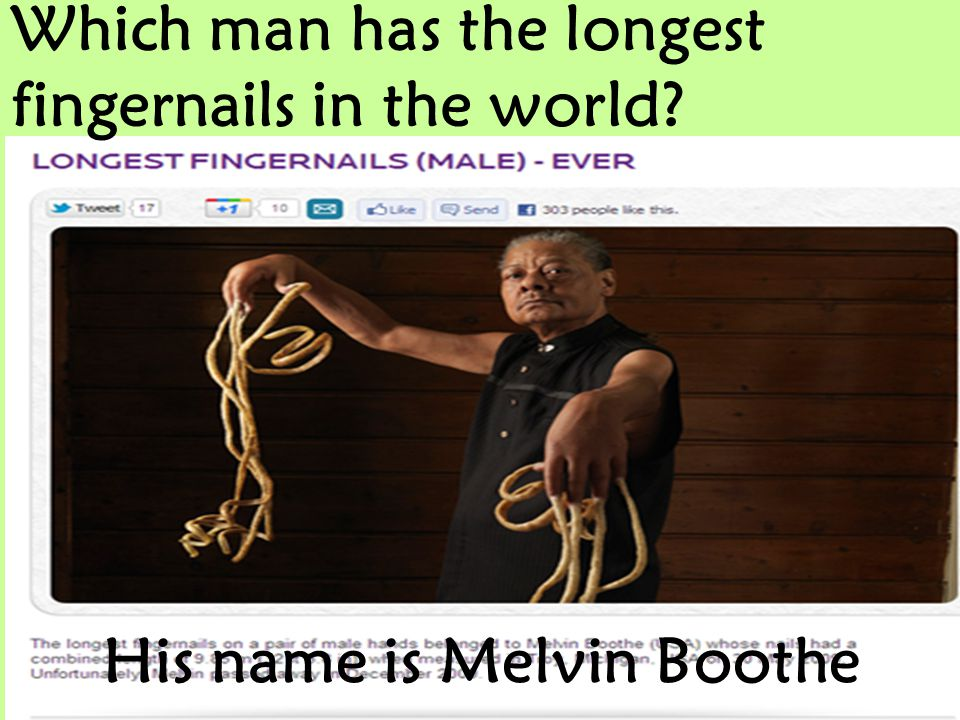 His name is Melvin Boothe