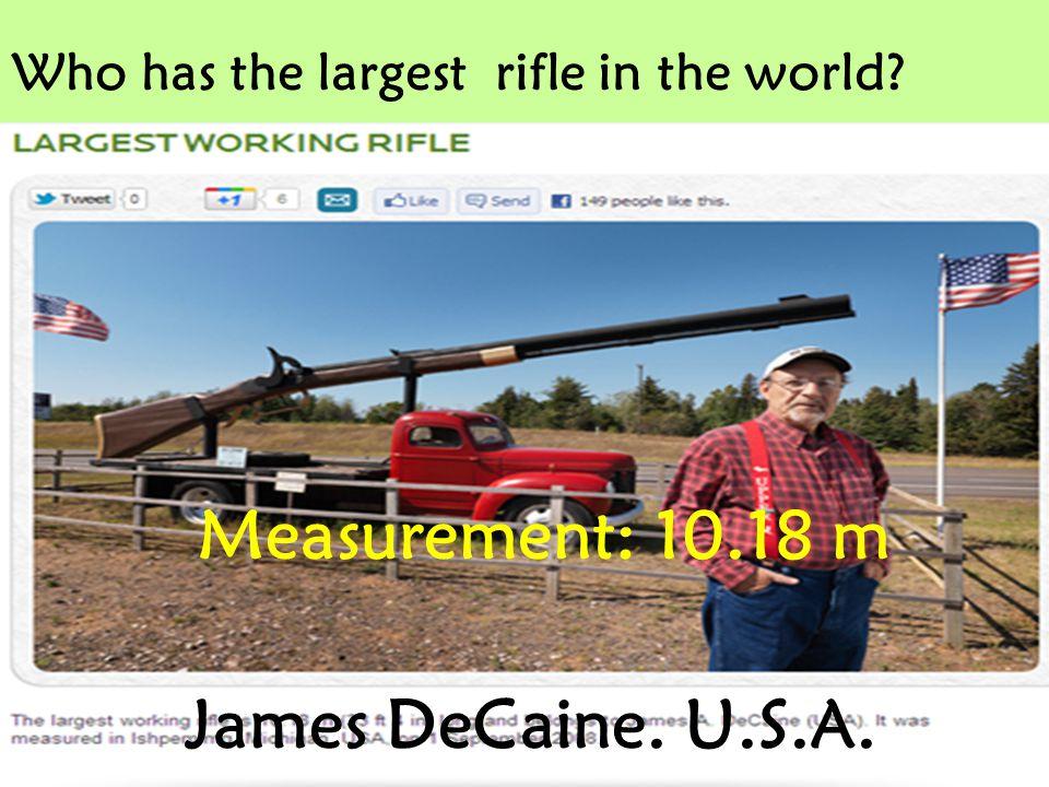 Measurement: 10.18 m James DeCaine. U.S.A.