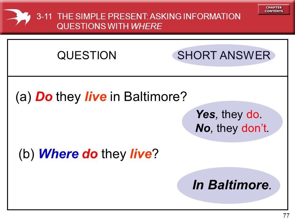 (a) Do they live in Baltimore