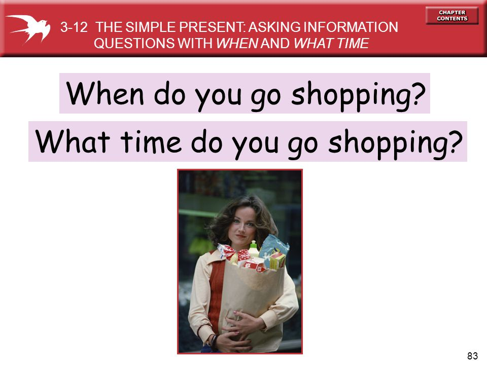 What time do you go shopping