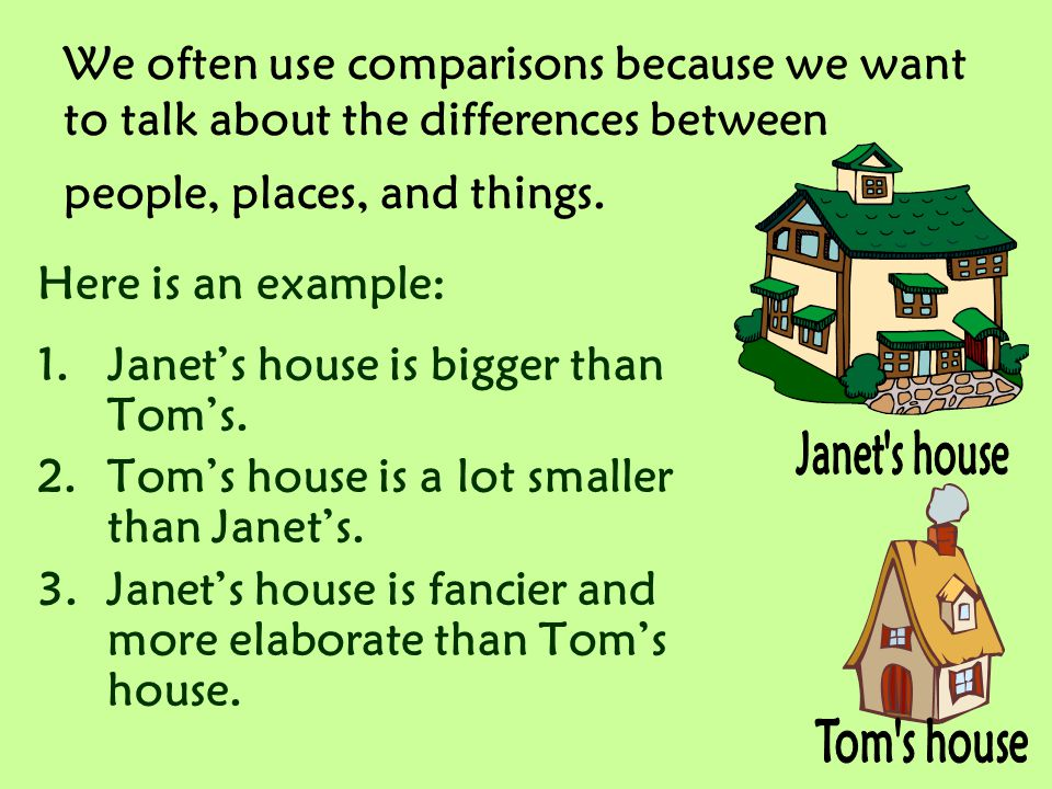 Janet s house Tom s house