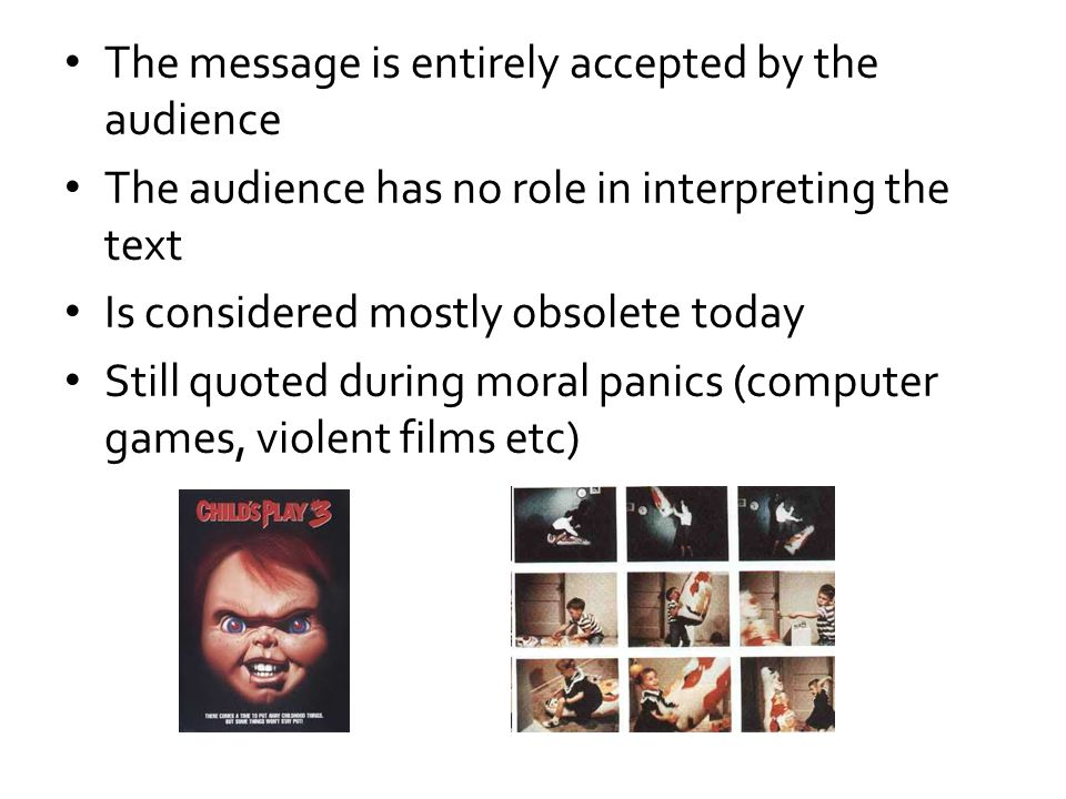 The message is entirely accepted by the audience