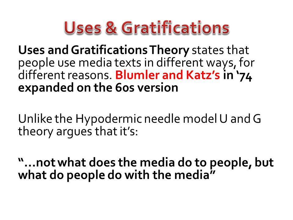 Uses & Gratifications