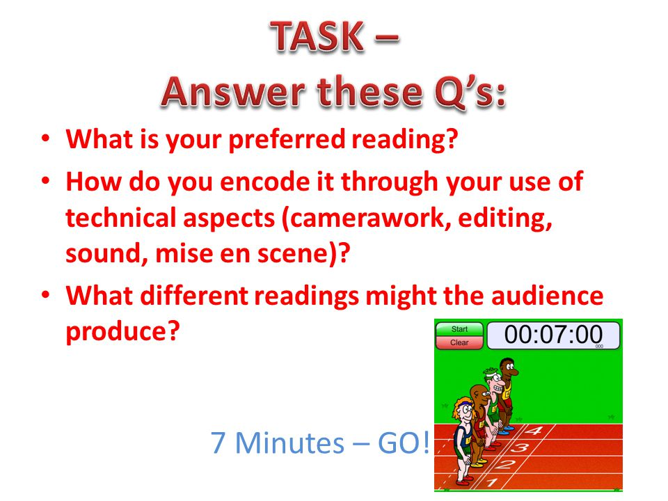 TASK – Answer these Q's: