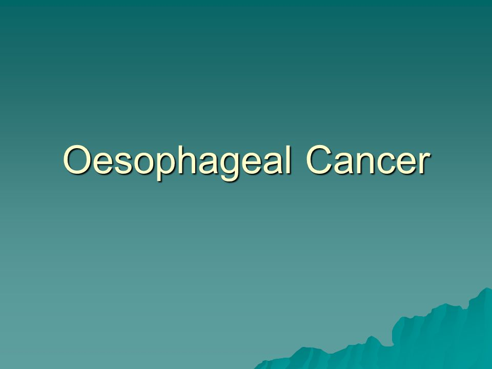 Oesophageal Cancer