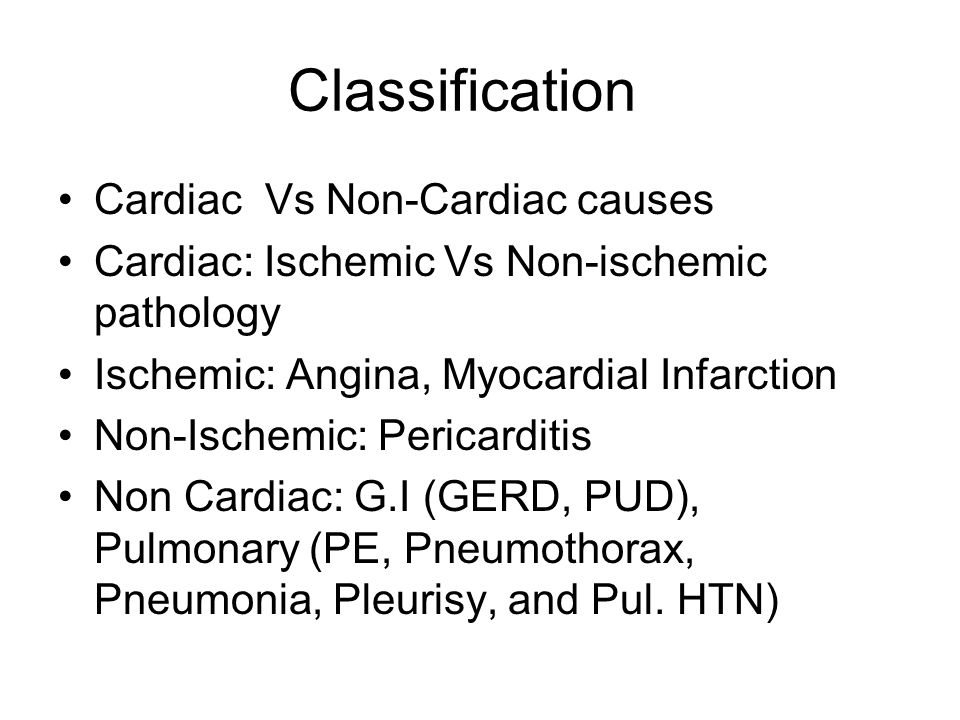 Classification Cardiac Vs Non-Cardiac causes