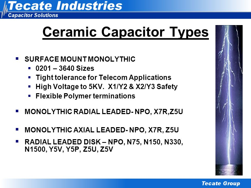 Ceramic Capacitor Types
