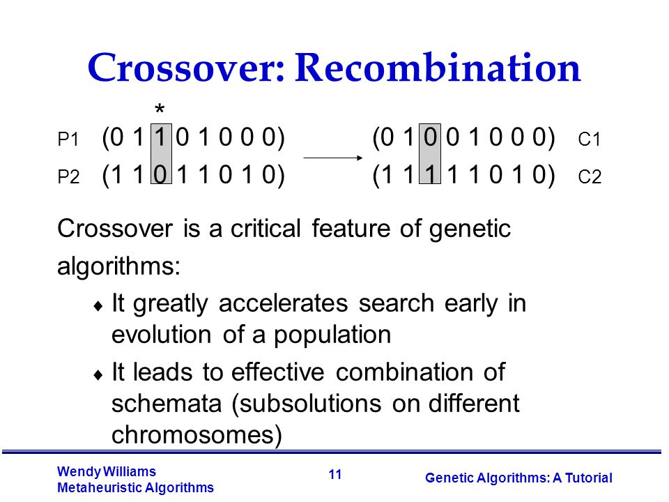 Crossover: Recombination