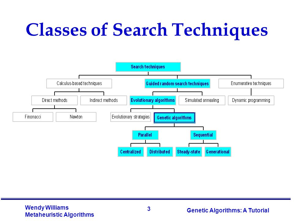 Classes of Search Techniques