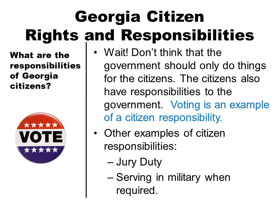 Georgia Citizen Rights and Responsibilities