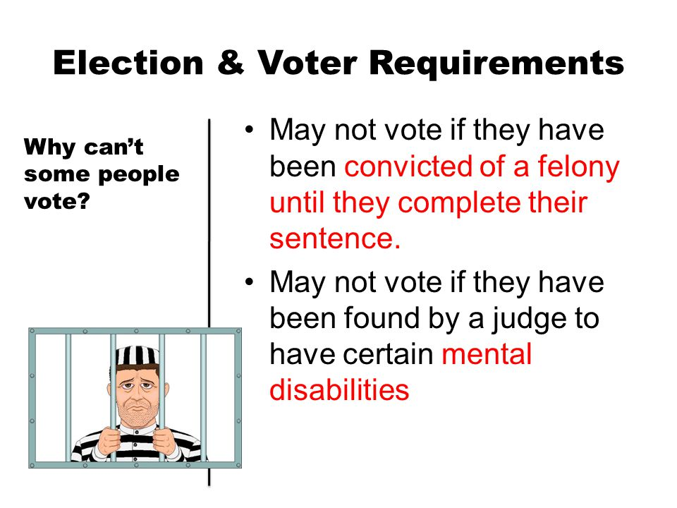 Election & Voter Requirements