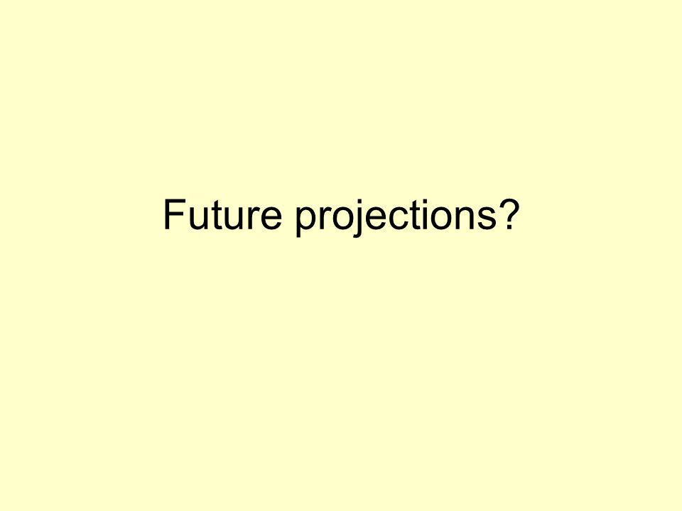 Future projections