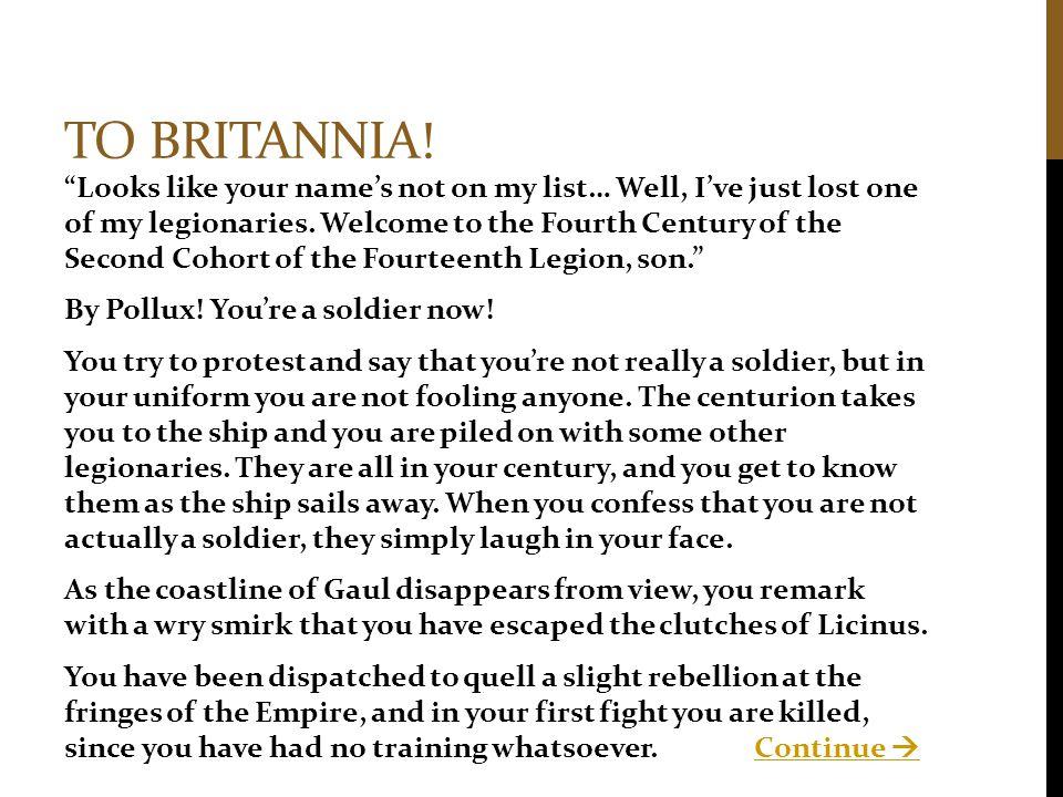 To Britannia!