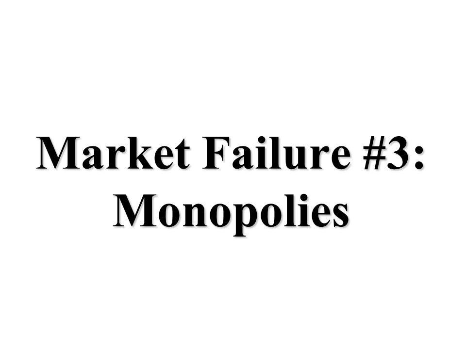 Market Failure #3: Monopolies