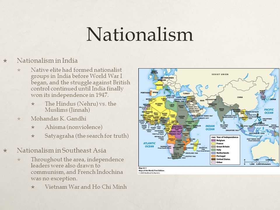 Nationalism Nationalism in India Nationalism in Southeast Asia