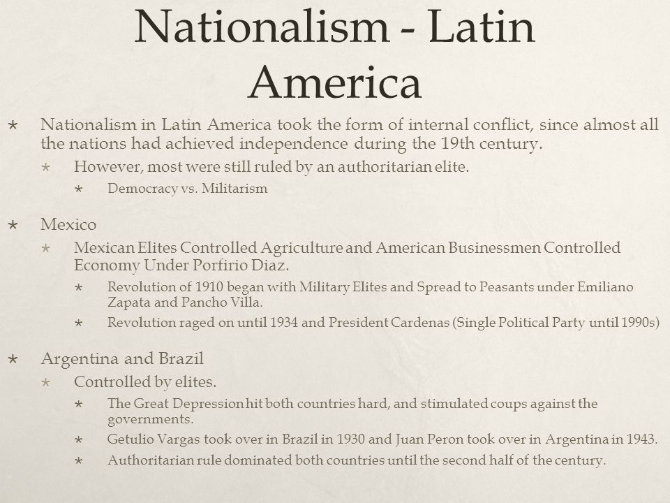 Nationalism - Latin America