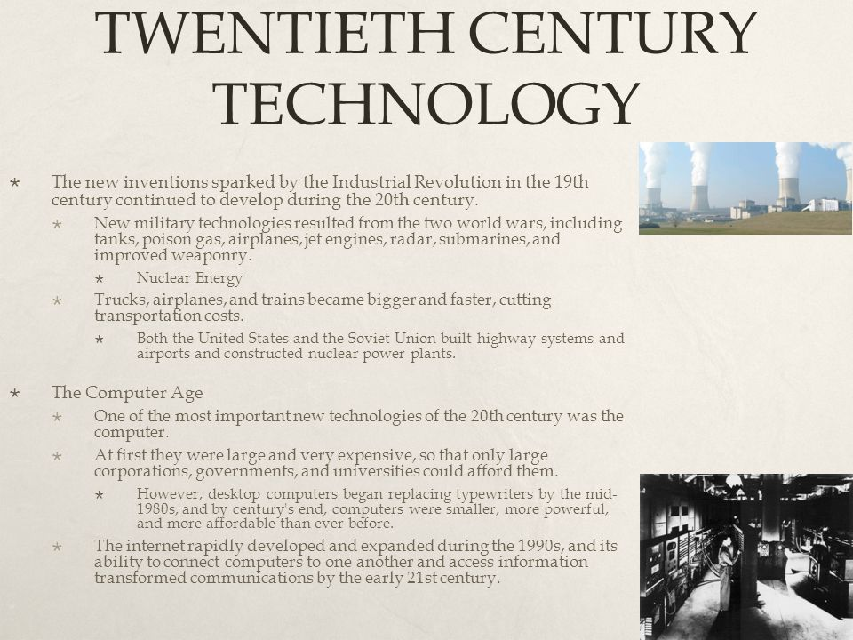 TWENTIETH CENTURY TECHNOLOGY