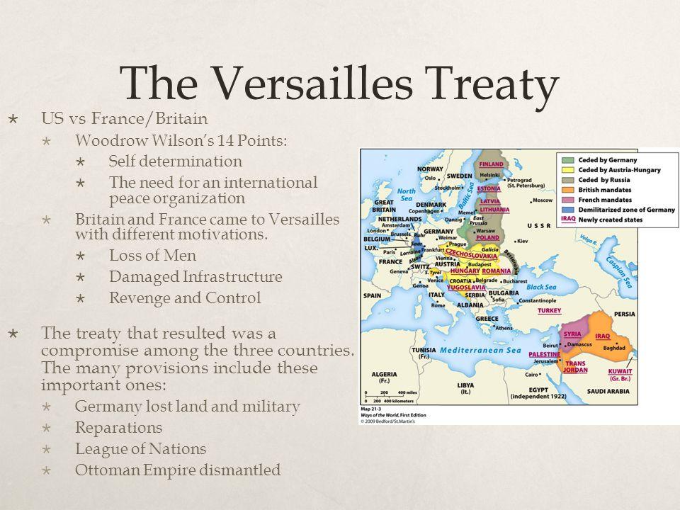 The Versailles Treaty US vs France/Britain