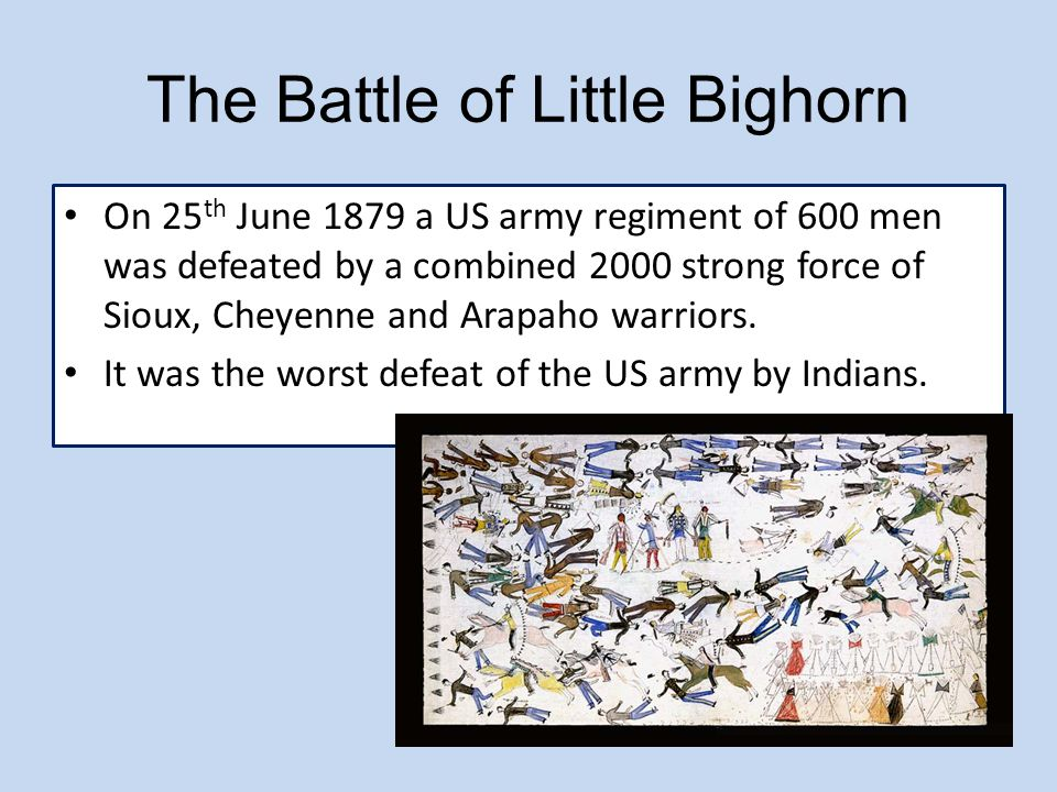 The Battle of Little Bighorn
