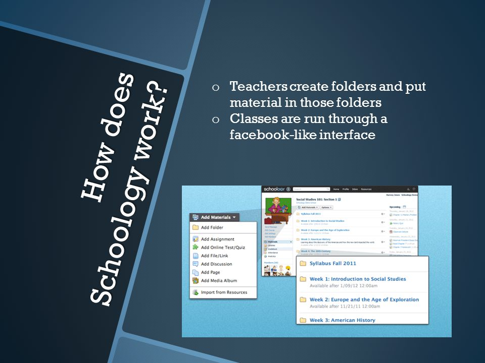 How does Schoology work