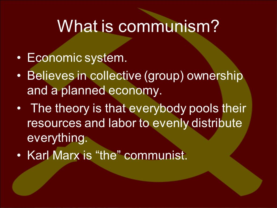 What is communism Economic system.
