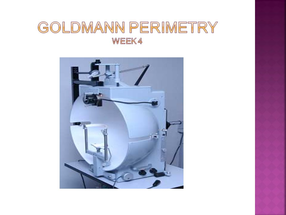 Goldmann Perimetry week 4