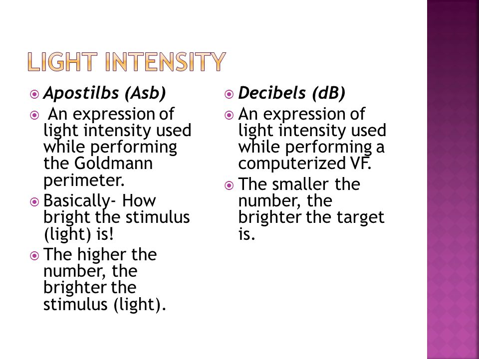 Light intensity Apostilbs (Asb)