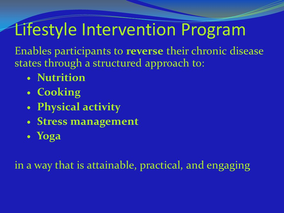 Lifestyle Intervention Program