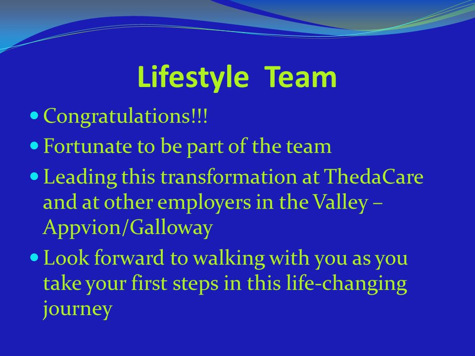 Lifestyle Team Congratulations!!! Fortunate to be part of the team