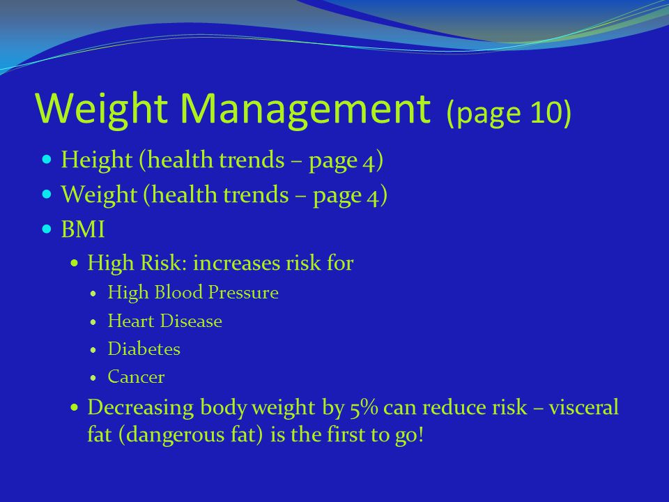 Weight Management (page 10)