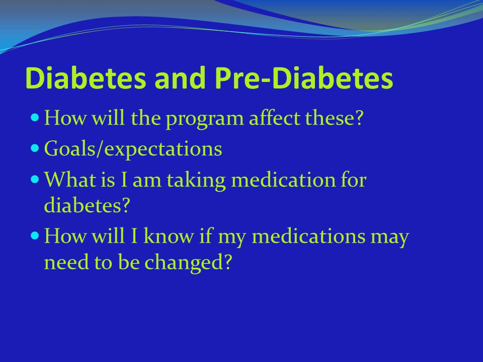 Diabetes and Pre-Diabetes