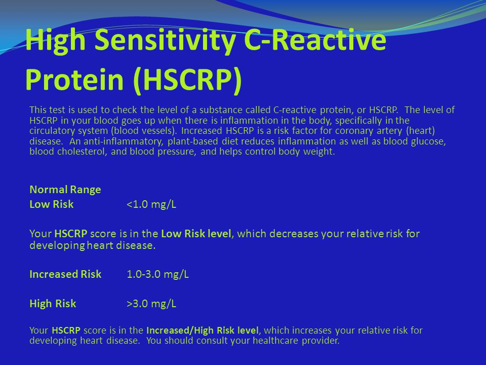 High Sensitivity C-Reactive Protein (HSCRP)