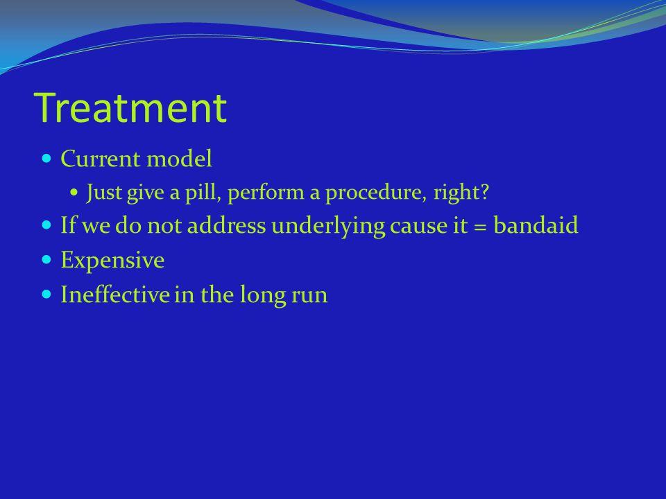 Treatment Current model