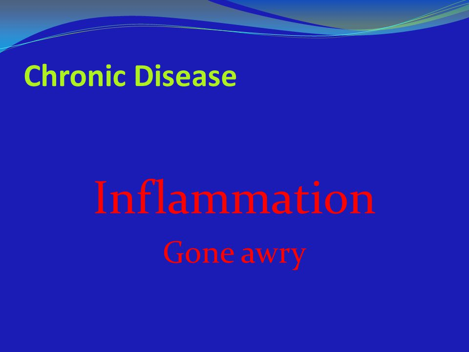 Inflammation Chronic Disease Gone awry