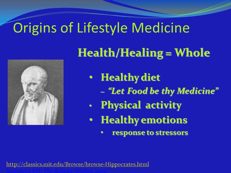 Origins of Lifestyle Medicine