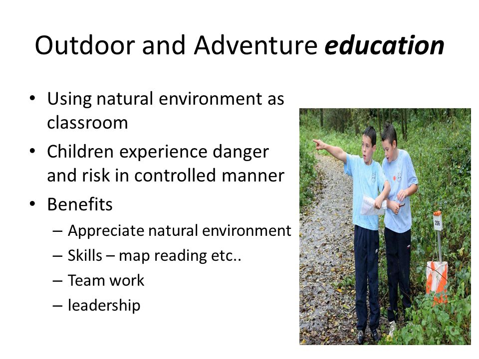 Outdoor and Adventure education