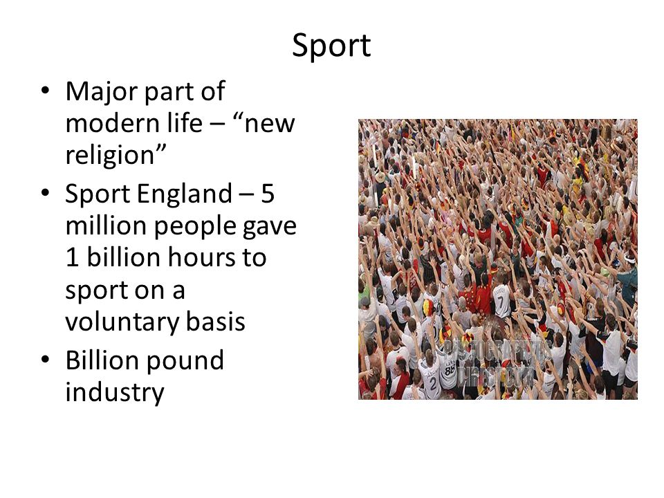 Sport Major part of modern life – new religion