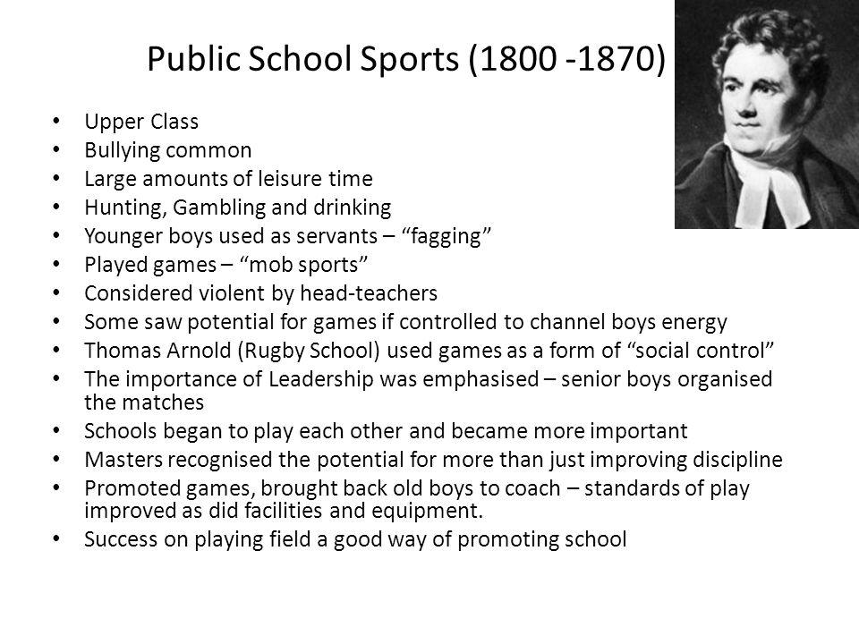 Public School Sports (1800 -1870)