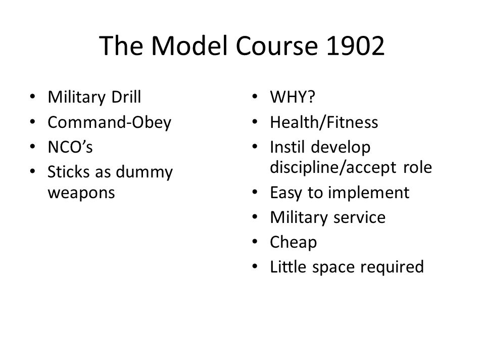 The Model Course 1902 Military Drill Command-Obey NCO's